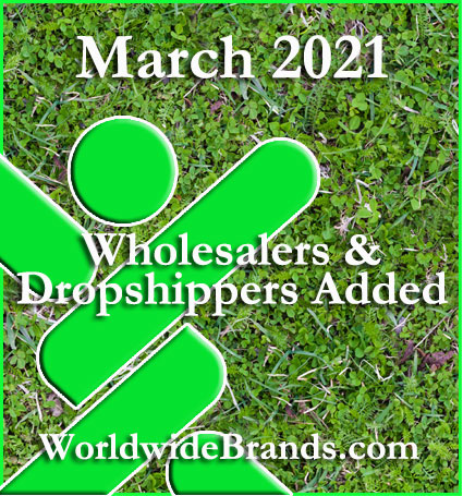 march 2021 wholesalers and dropshippers added worldwidebrands.com image of grass with linkin icon