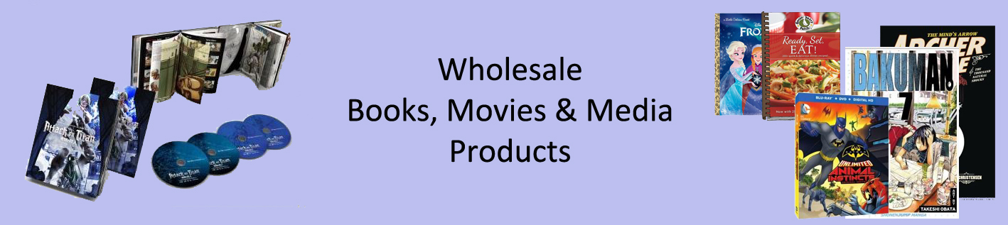 Wholesale Books to Sell Online, Wholesale DVDs